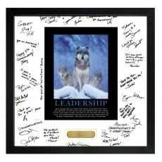 Signature Frames - Power of A Leader Framed Signature Motivational Poster