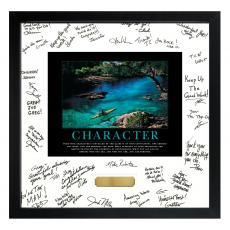 Essence of Character Framed Signature Motivational Poster