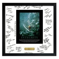 Signature Frames - Courage of Integrity Framed Signature Motivational Poster