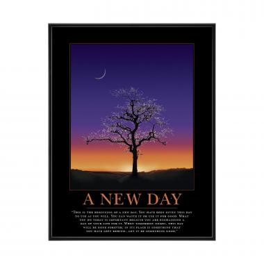 A New Day Mini Motivational Poster