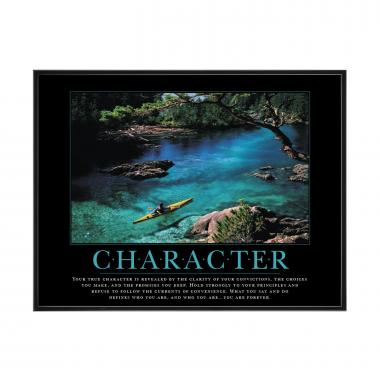 Character Kayaker Mini Motivational Poster