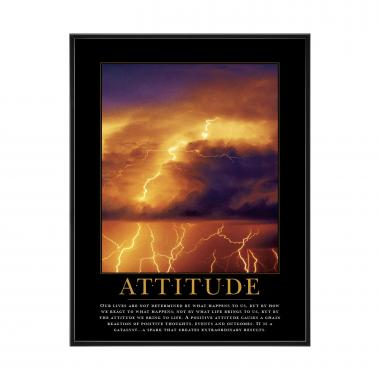 Attitude Lightning Mini Motivational Poster