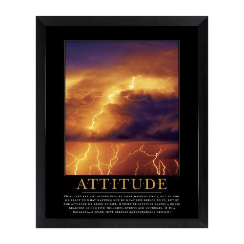 Attitude Lightning Mini Motivational Poster