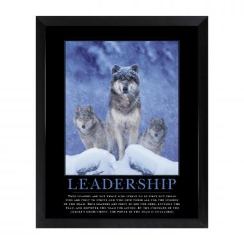 Leadership Wolves Mini Motivational Poster