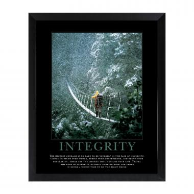 Integrity Bridge Mini Motivational Poster