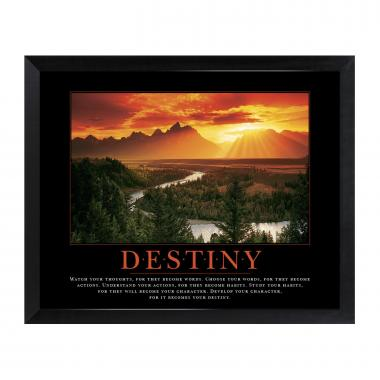 Destiny River Mini Motivational Poster