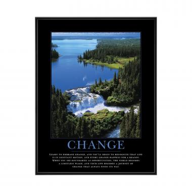 Change Waterfall Mini Motivational Poster