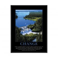 Mini Motivational Posters - Change Waterfall Mini Motivational Poster
