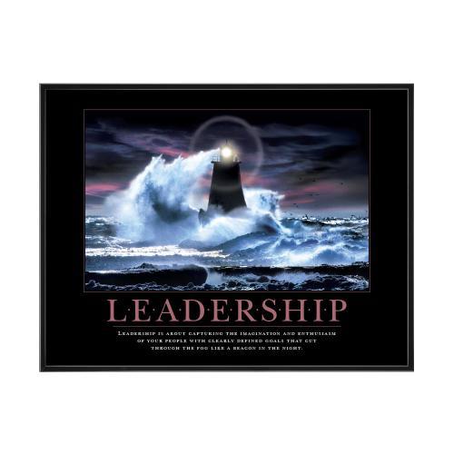 Leadership Lighthouse Mini Motivational Poster