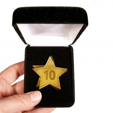 Years of Service Star Lapel Pin