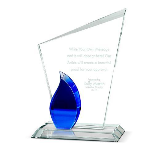 Flame Torch Crystal Award