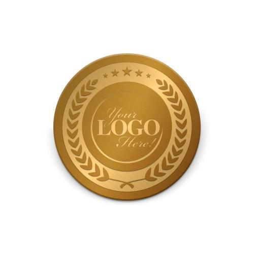 Custom Laurel Wreath Medallion Challenge Coin