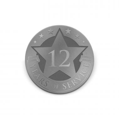Years of Service Star Medallion Challenge Coin