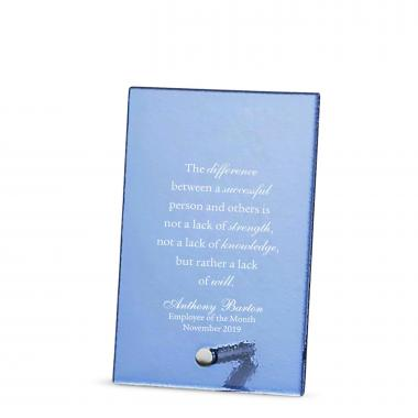 Tower Pin Frosted Glass Award