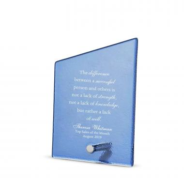 Peak Pin Frosted Glass Award
