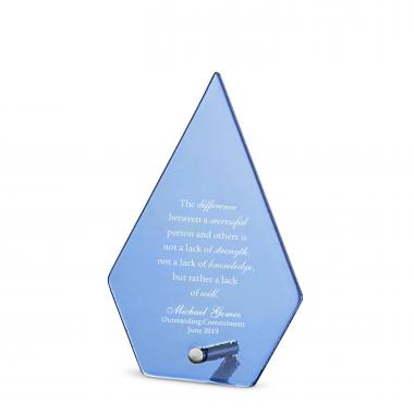 Keystone Pin Frosted Glass Award