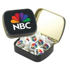 Candy, Food & Gifts - Small White Mint Tin with Printed Mints