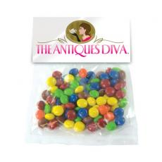 Health & Safety - Large Candy Bag (w/Header Card) w/Corporate Color Chocolate