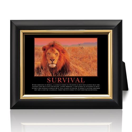 Survival Lion Desktop Print