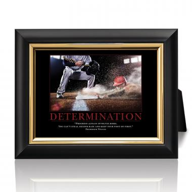 Determination Baseball Slide Desktop Print