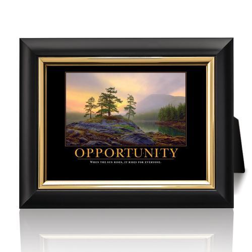 Opportunity Mountain Lake Desktop Print