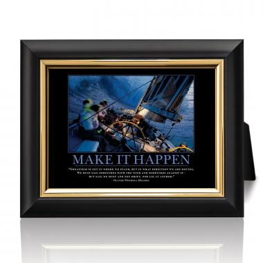 Make It Happen Sailboat Desktop Print