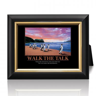 Walk The Talk Penguins Desktop Print
