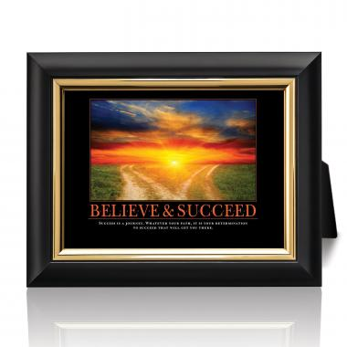 Believe & Succeed Path Desktop Print