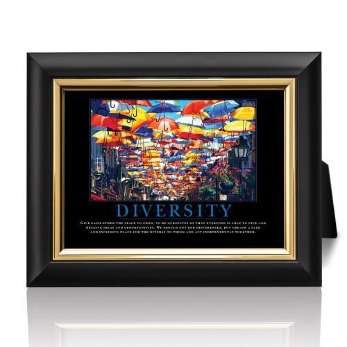 Diversity Umbrellas Desktop Print