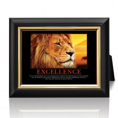 Excellence Lion Desktop Print
