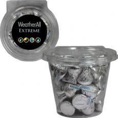 Health & Safety - Round Safe-T Fresh Container With Hershey Kisses