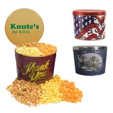Candy, Food & Gifts - Designer Two Gallon Popcorn Tin - Three Flavors, Thank You