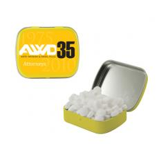 Home & Family - Small Yellow Mint Tin with Sugar-Free Mints