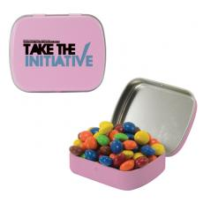 Home & Family - Small Pink Mint Tin with Chocolate Littles