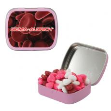 Home & Family - Pink Mint Tin with Candy Hearts - Breast Cancer Awareness