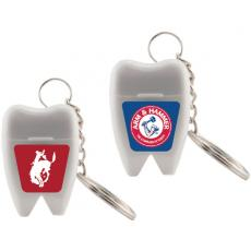 Health & Safety - Tooth Shaped Dental Floss with Keychain