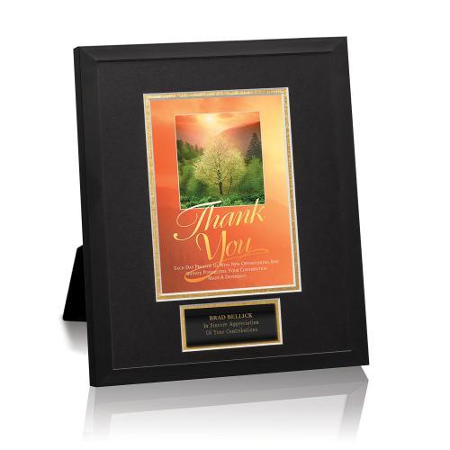 Thank You Sunrise Framed Award