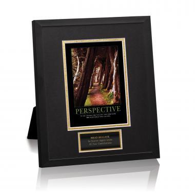 Perspective Wooded Path Framed Award
