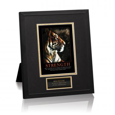 Strength Tiger Framed Award