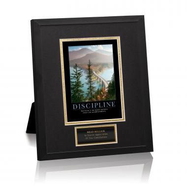 Discipline Bridge Framed Award