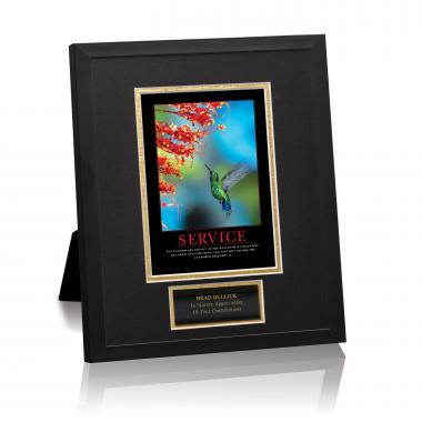 Service Hummingbird Framed Award