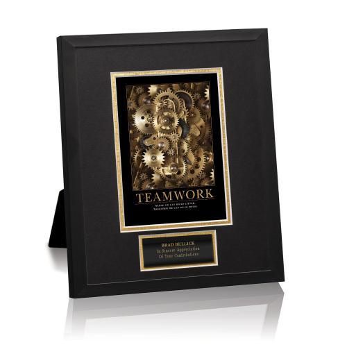 Teamwork Gears Framed Award
