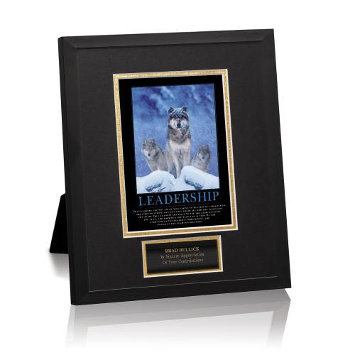 Leadership Wolves Framed Award