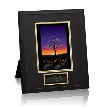 A New Day Framed Award