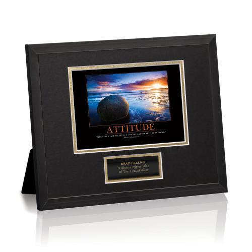 Attitude Boulder Framed Award