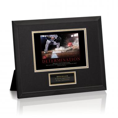 Determination Baseball Slide Framed Award