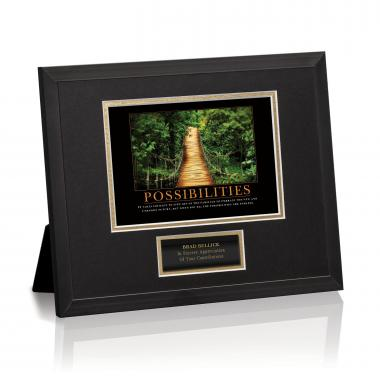 Possibilities Wooden Bridge Framed Award