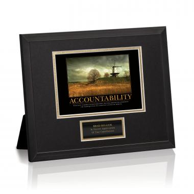 Accountability Windmill Framed Award