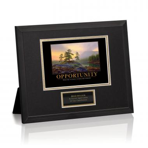Opportunity Mountain Lake Framed Award