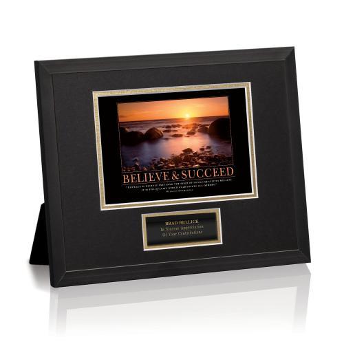 Believe & Succeed Sunset Framed Award
